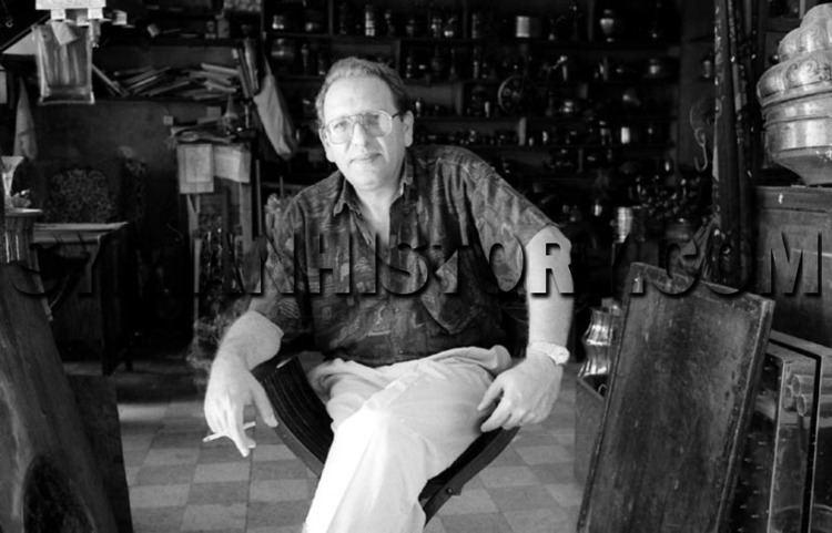 Maurice Nseiri Syrian History Jewish metal craftsman Maurice Nseiri at his shop