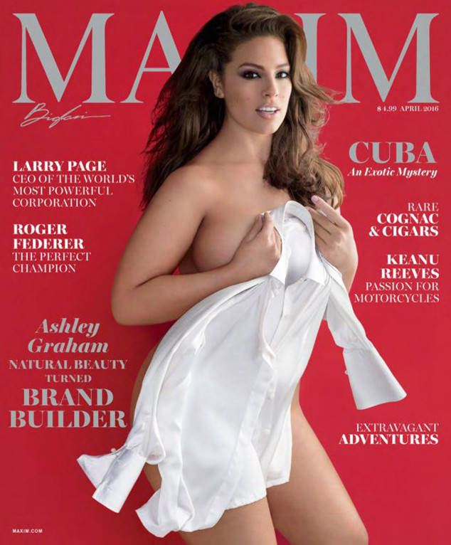 Maxim (magazine) Ashley Graham39s Maxim Cover Is Under Fire for Photoshopping but the