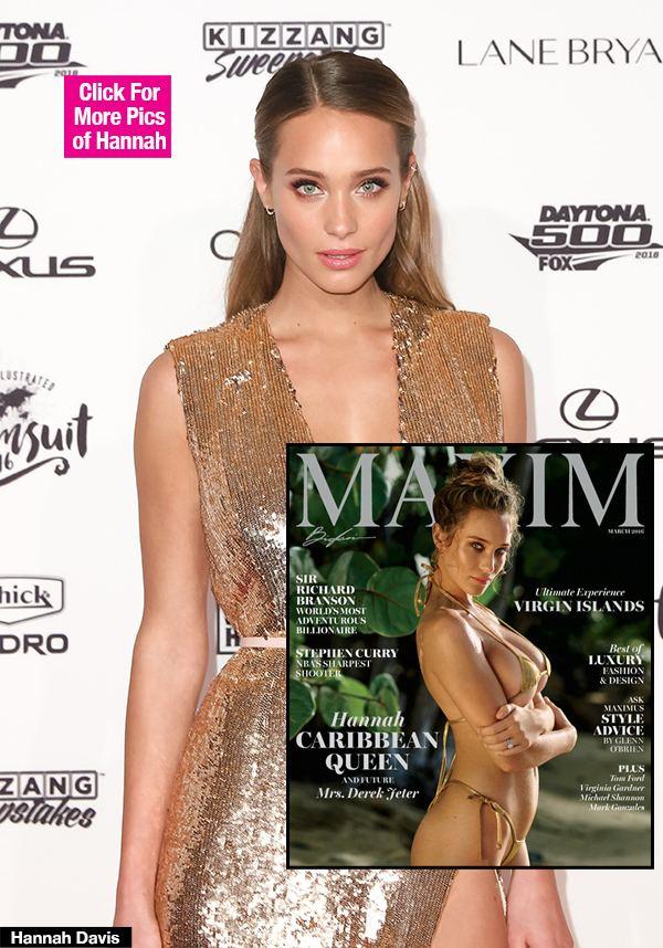 Maxim (magazine) PICS Hannah Davis39 Maxim Cover Flaunts Curves In Gold Bikini