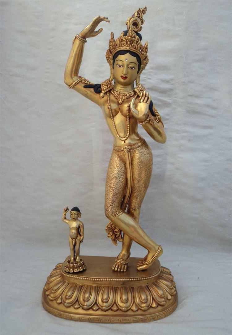 Maya (mother of the Buddha) SS ST131 Masterpiece Gold Plated Buddha39s Mother Maya Devi