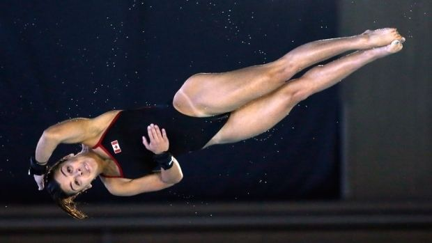 Meaghan Benfeito Meaghan Benfeito dives to 10metre gold at Canada Cup