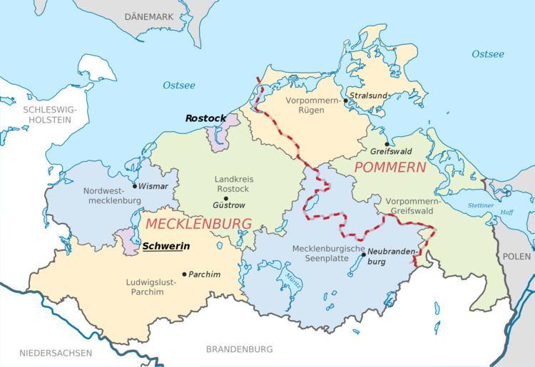 Mecklenburg FileMecklenburgVorpommern Map Districts Border Mecklenburg Western