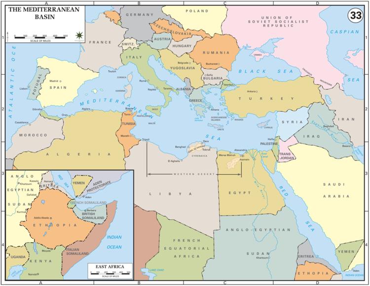 Mediterranean Basin The Mediterranean Basin 1939