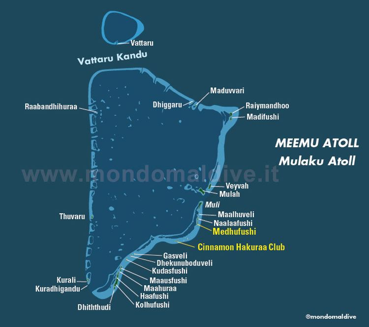 Meemu Atoll Map of Meemu Atoll in Maldives