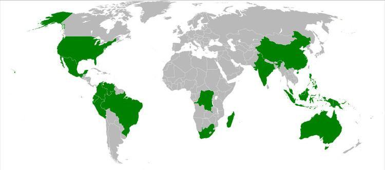 Megadiverse countries