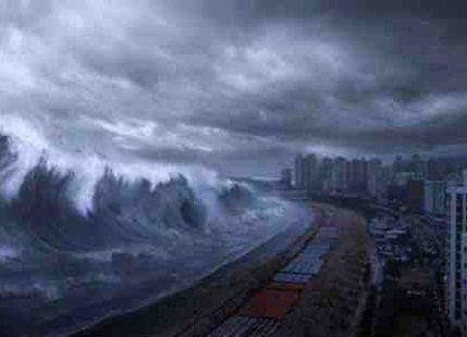 Megatsunami A mega Tsunami with 800 foot wave battered Cape Verde Islands