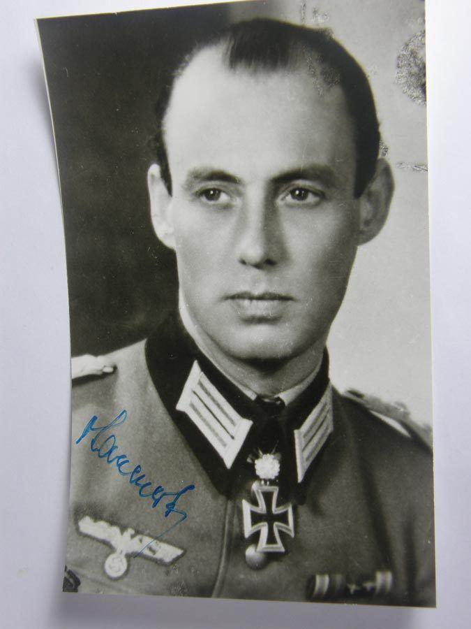 Meinrad von Lauchert Postwar signed Knight Cross winner General Major Meinrad Von Lauchert