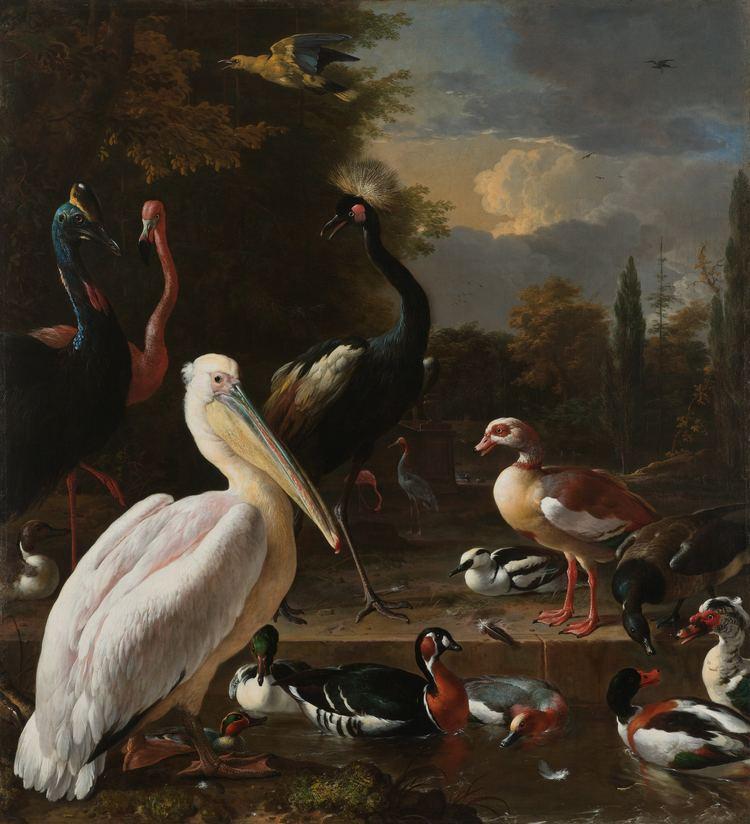 Melchior d'Hondecoeter FileMelchior d39Hondecoeter Een pelikaan en ander gevogelte bij