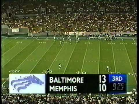 Memphis Mad Dogs CFL 1995 BALTIMORE STALLIONS AT MEMPHIS MADDOGS YouTube
