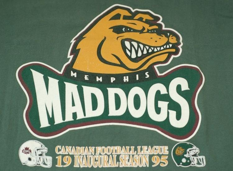 Memphis Mad Dogs CBC Sports CFL 1995 Regina Roughriders Memphis Mad Dogs WR Joe