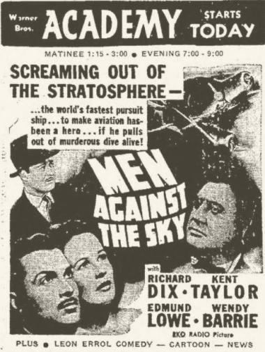 Men Against the Sky Men Against the Sky 1940 Richard Dixs Ace of Aces Goes Modern