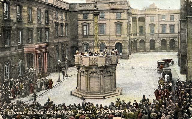 Mercat cross published by RB Rock Brothers Proclamation at the Mercat Cross