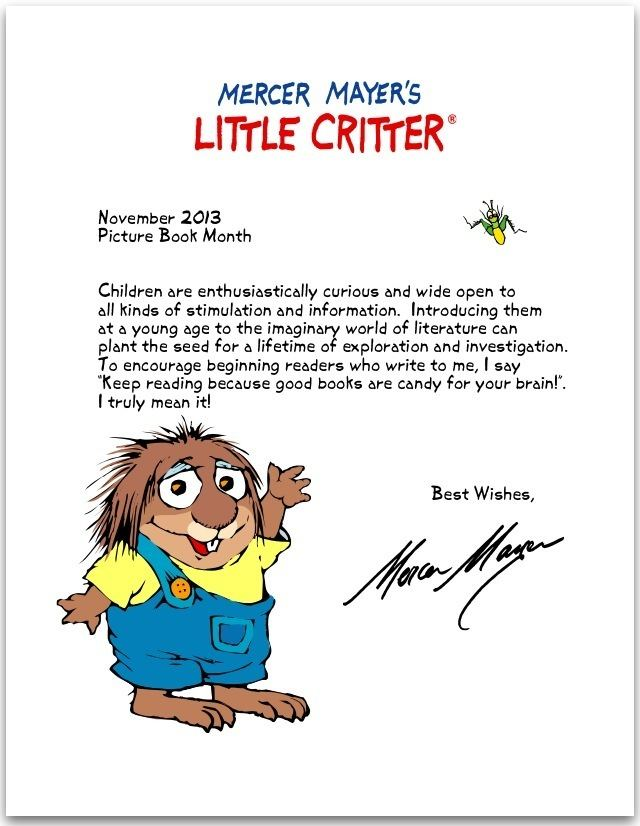 Mercer Mayer Why Picture Books Are Important by Mercer Mayer