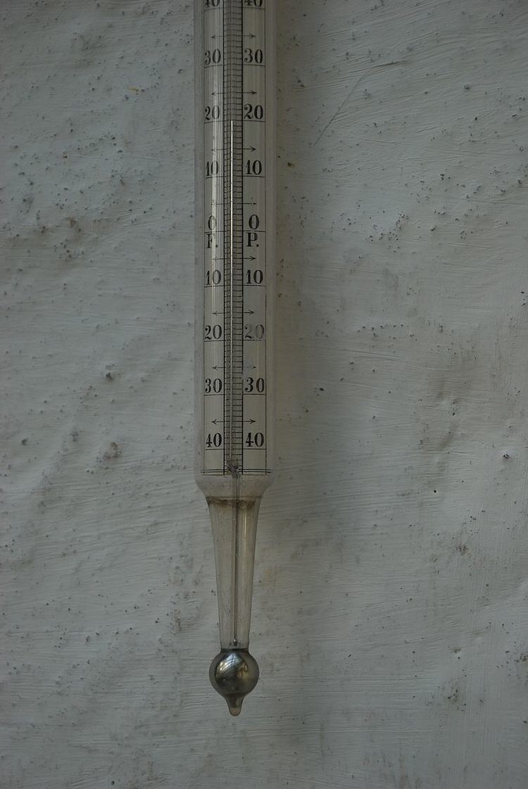 Mercury-in-glass thermometer