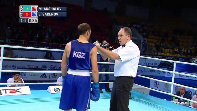 Merey Akshalov Mens Light Welter 64kg Quarter Final Merey AKSHALOV KAZ vs