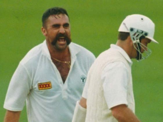 Merv Hughes (Cricketer) playing cricket