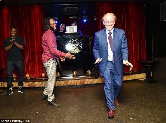 Mervyn Davies, Baron Davies of Abersoch Lord of the dance Labour peer shows off his best moves at Usher