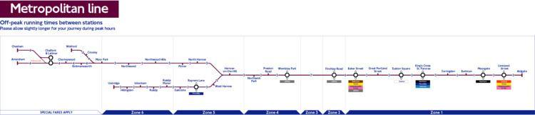 Metropolitan line London Underground Metropolitan Line station list amp map