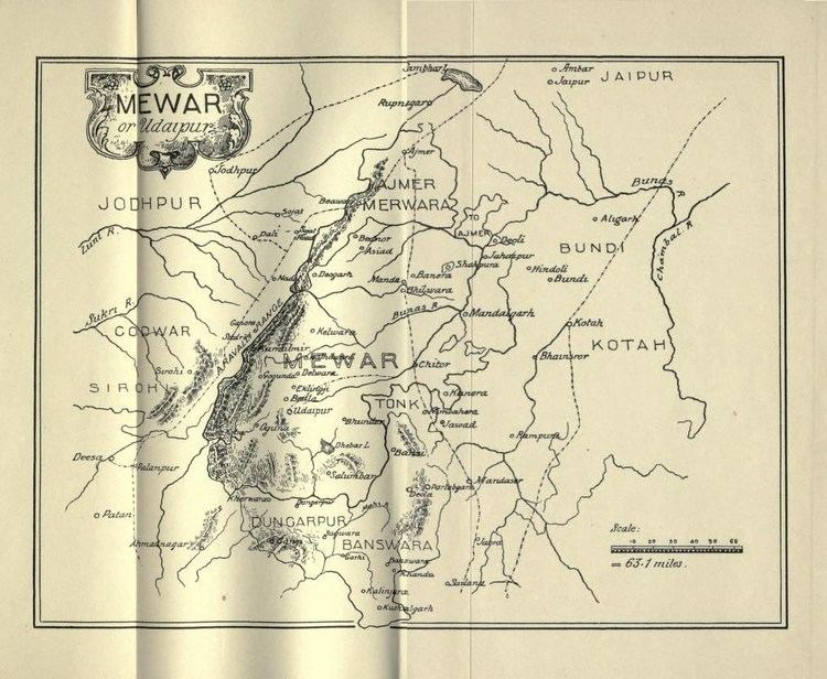 Mewar FileMap of Mewar or Udaipur from Tods Annalsjpg Wikipedia