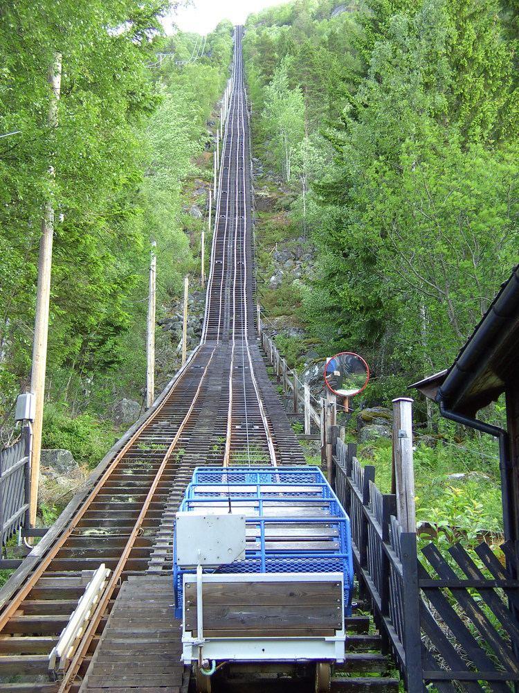 Mågelibanen Mgelibanen in Tyssedal Norway Mapionet