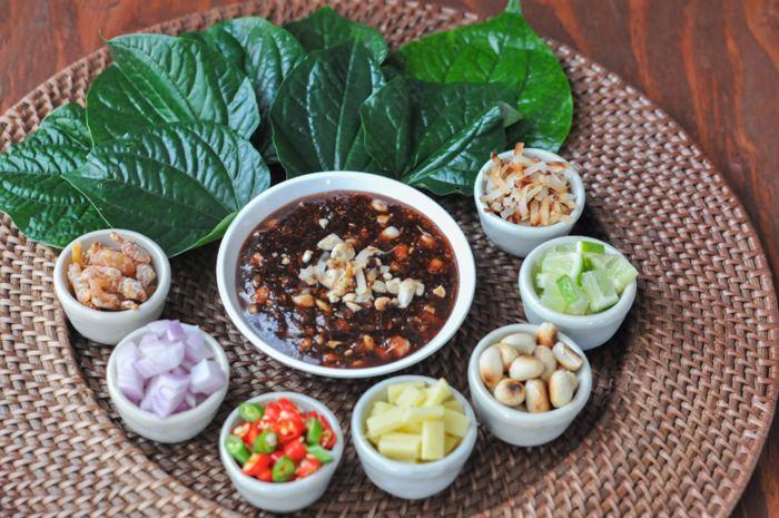 Miang kham One Bite Appetizer Miang Kham Rachel Cooks Thai