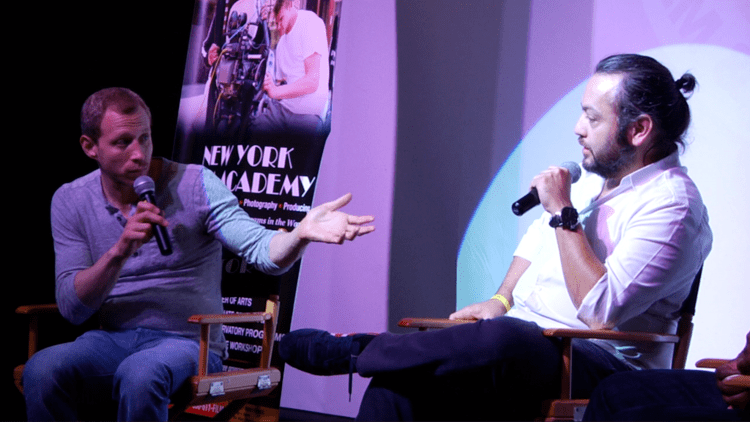Micah Hauptman Director Mel Rodriguez and Actor Micah Hauptman Screen In Stereo