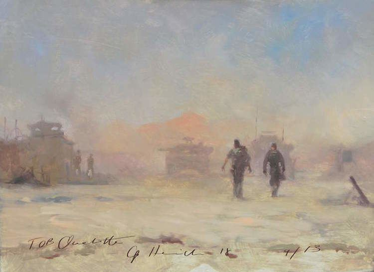 Michael Alford (artist) War Artist Michael Alford