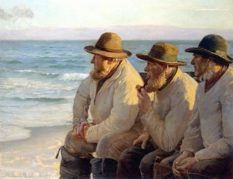 Michael Ancher Michael Ancher Looking Out To Sea Print Canvas Prints