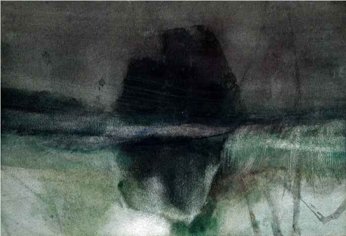 Michael Andrews (artist) Michael Andrews Untitled Boulder Relection in Water