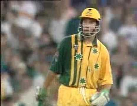 Michael Bevan last ball four SCG 199596 YouTube