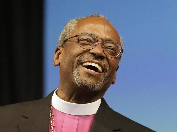 Michael Curry (bishop) Michael Curry becomes the first black presiding bishop elected by