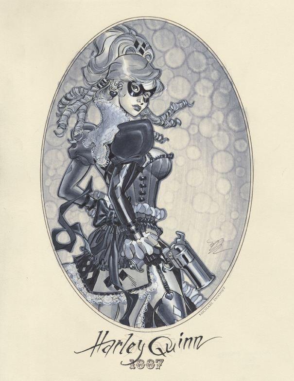 Michael Dooney Michael Dooney Victorian Era Pinup Illustrations
