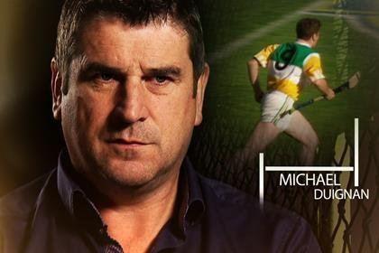 Michael Duignan HoganStand Michael Duignan gets the Laochra Gael