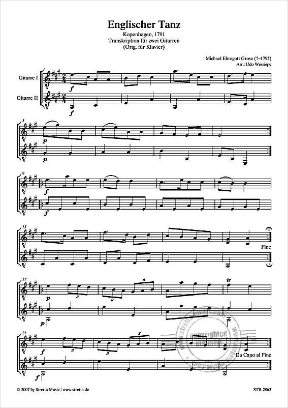Michael Ehregott Grose Englischer Tanz from Michael Ehregott Grose download now in our