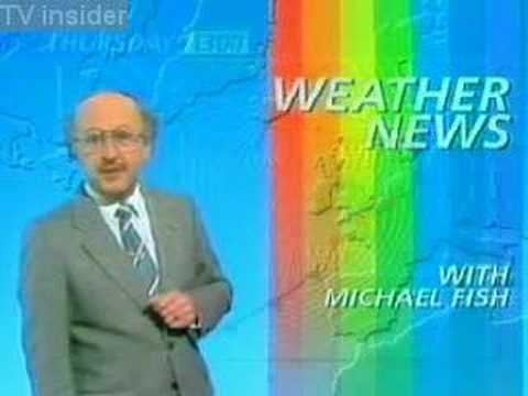 Michael Fish BBC weather blooper by Michael Fish storm of 1987 YouTube