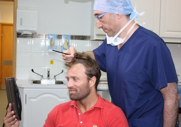 Michael Gray (footballer) Michael Gray39s hair transplant is broadcast live on the