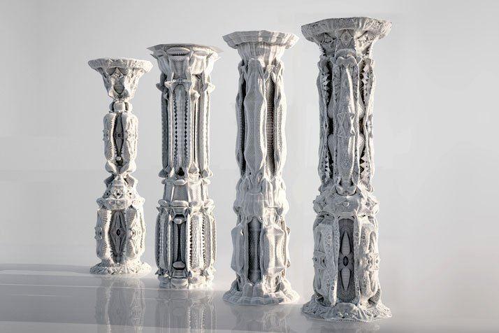 Michael Hansmeyer Ornamented Columns by Michael Hansmeyer Yatzer