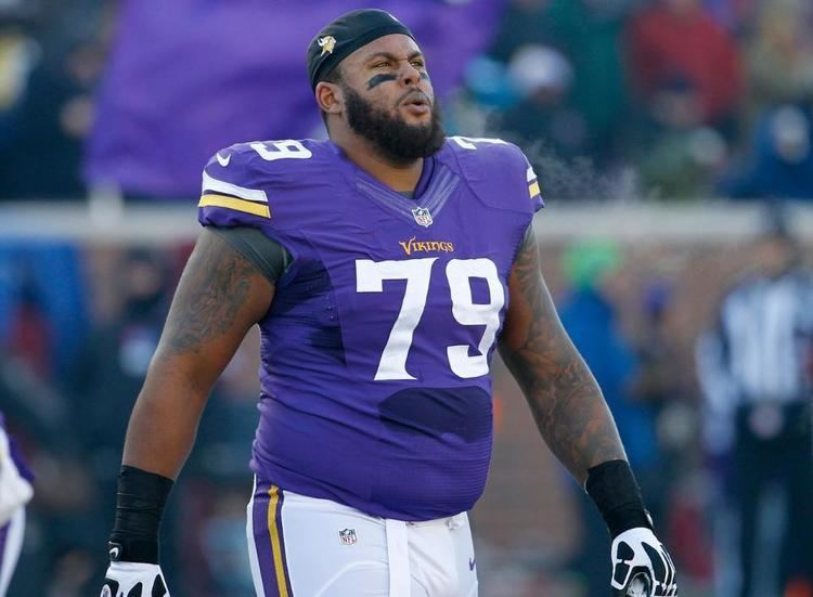 Michael Harris (offensive lineman) Vikings RG Mike Harris vs Steelers