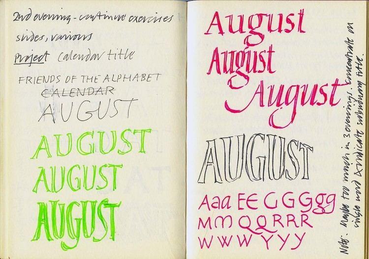 Michael Harvey (lettering artist) Paul Shaw Letter Design Michael Harveys Teaching Notebooks 1983