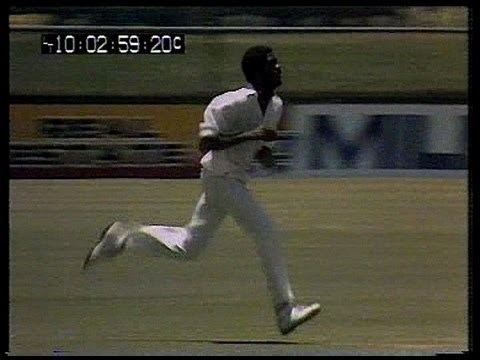 Very fast bowling Michael Holding at Brisbane 1979 YouTube