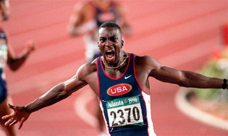 Michael Johnson 50 stunning Olympic moments No29 Michael Johnson39s 200m