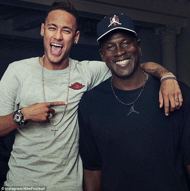 Michael Jordan (footballer) Neymar teams up with Michael Jordan to create first Nike Jordan