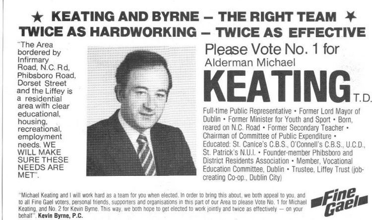 Michael Keating (Irish politician) michael keating Irish Election Literature