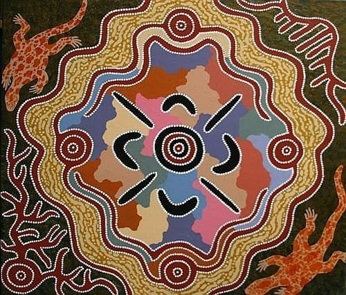 Michael Nelson Tjakamarra Michael Nelson Tjakamarra Works on Sale at Auction