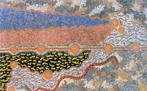 Michael Nelson Tjakamarra Michael Nelson Tjakamarra Possum Dreaming 1985 Flickr