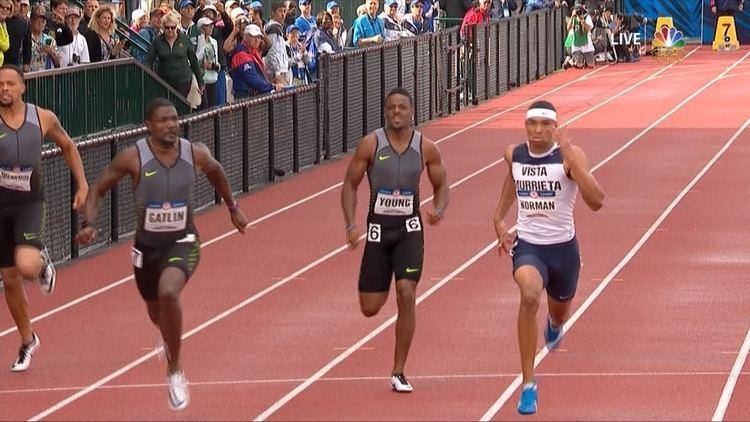 Michael Norman (sprinter) High school sprinters turn heads at Olympic Trials NBC Olympics