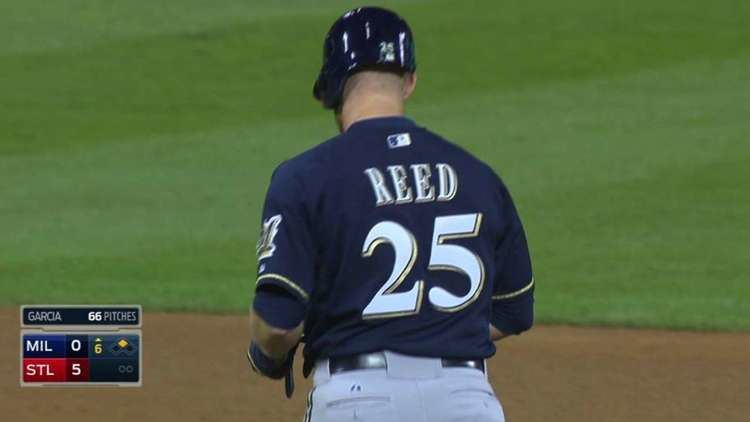 Michael Reed (baseball) Michael Reed Adrian House debut for Brewers MLBcom