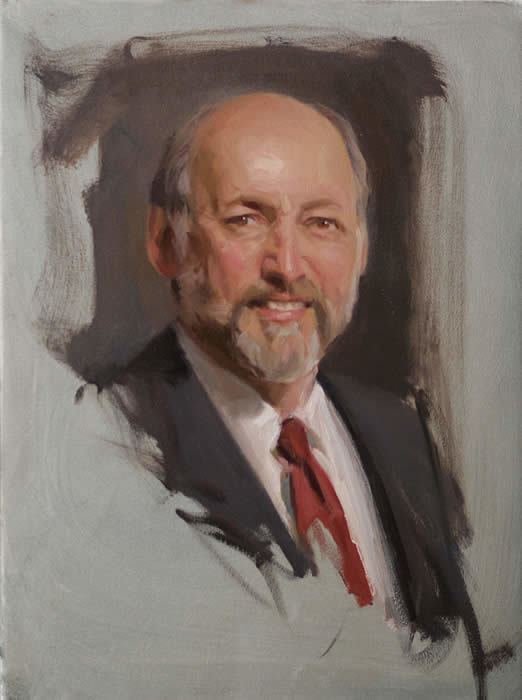 Michael Shane Neal Portrait Sketch from Life of Alan Hantman by Michael Shane Neal