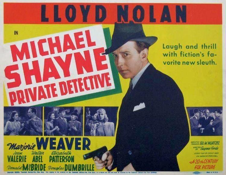 Michael Shayne, Private Detective Forgotten Films Michael Shayne Private Detective 1940 Sanford