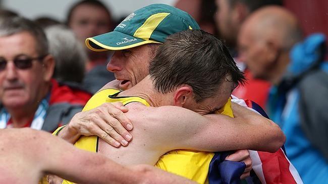 Michael Shelley (athlete) Michael Shelley plots Gold Coast Commonwealth Games swan